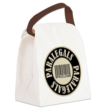 Paralegals Priceless Bar Code Canvas Lunch Bag