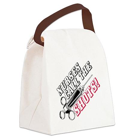 Nurses Call The Shots! Canvas Lunch Bag
