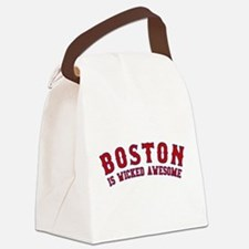 boston is wicked awesome Canvas Lunch Bag