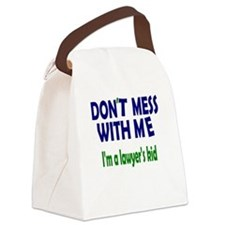 Lawyer's Kid Canvas Lunch Bag