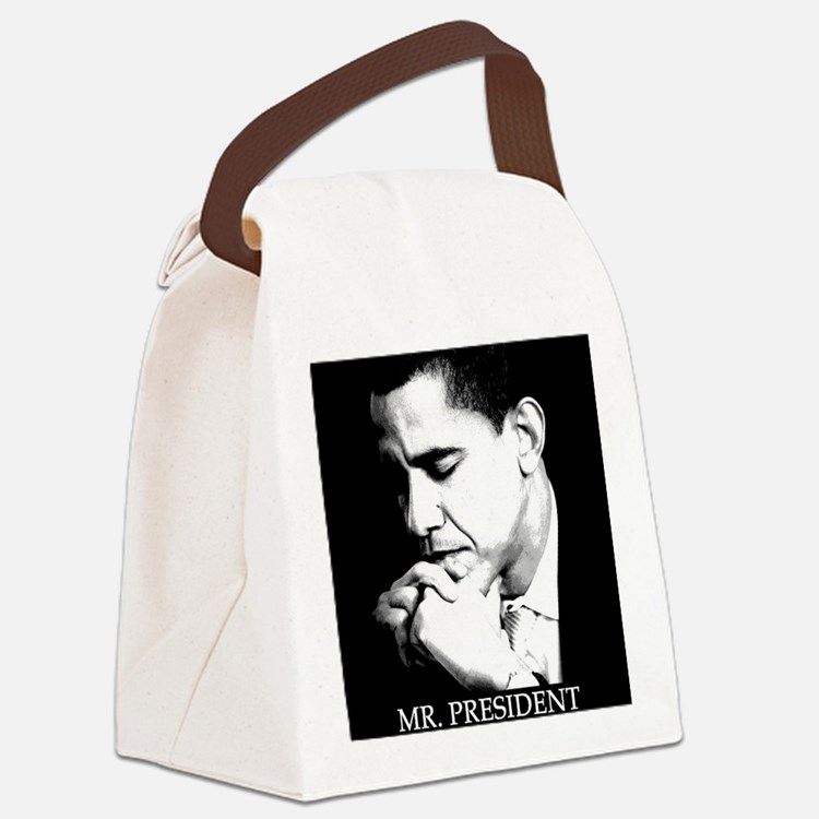 Barack Obama: MR. PRESIDENT - Canvas Lunch Bag
