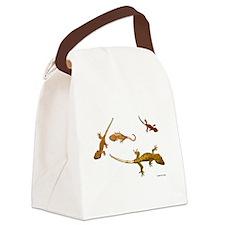 Four Crested Geckos Canvas Lunch Bag