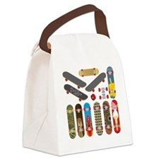 Cute Skateboarding Canvas Lunch Bag