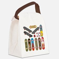 Funny Skateboard Canvas Lunch Bag