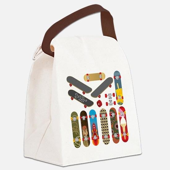 Unique Skateboard Canvas Lunch Bag