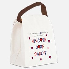 Welcome Home Daddy (12 month) Canvas Lunch Bag