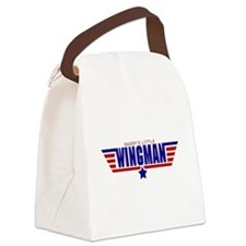 Daddy's Little Wingman Canvas Lunch Bag