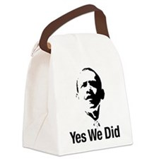Yes We Did Canvas Lunch Bag