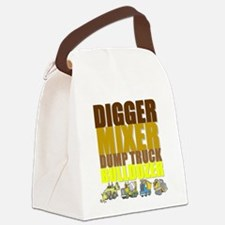 Construction Machines Canvas Lunch Bag