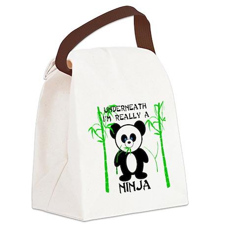Ninja Panda Canvas Lunch Bag