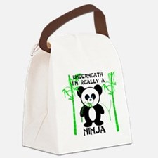 Ninja Panda Canvas Lunch Bag
