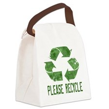 Please Recycle Grunge Canvas Lunch Bag