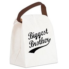 Biggest Brother (Black Text) Canvas Lunch Bag