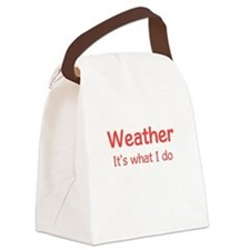 Weather Forecaster Canvas Lunch Bag