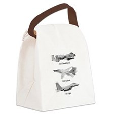 Fighter Jets Canvas Lunch Bag