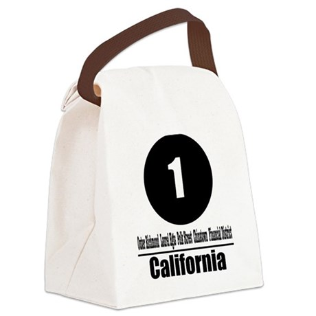 1 California (Classic) Canvas Lunch Bag