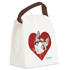 Kitty Kind Valentine's Red Heart Cat Canvas Lunch