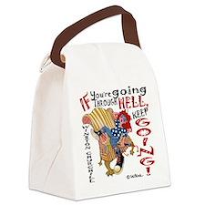 Unique Zipper Canvas Lunch Bag