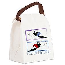Live on the edge Slalom Canvas Lunch Bag