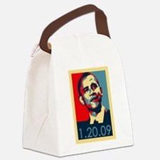 Obama Inauguration Date 1-20-09 Canvas Lunch Bag