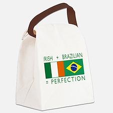 Irish Brazilian flag Canvas Lunch Bag