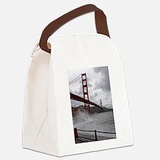 foggy golden gate Canvas Lunch Bag