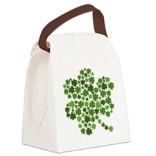 Shamrocks in a Shamrock Canvas Lunch Bag