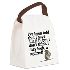 hey look, a squirrel! Canvas Lunch Bag