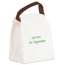 Unique Linguistics Canvas Lunch Bag