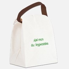 Unique Linguistics Canvas Lunch Bag