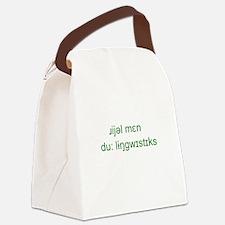 Funny Linguistics Canvas Lunch Bag