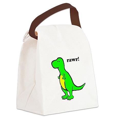 Cute Dinosaur Canvas Lunch Bag