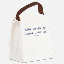 Triathlete vs. TriSupporter Canvas Lunch Bag