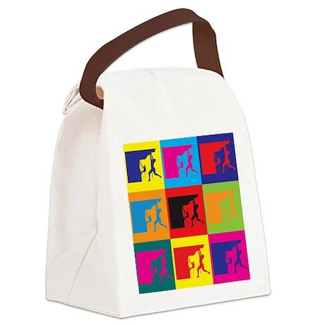 Climbing Pop Art Canvas Lunch Bag