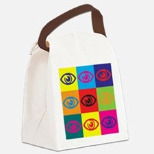 Optometry Pop Art Canvas Lunch Bag