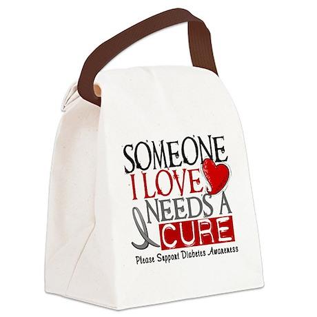 Needs A Cure DIABETES Canvas Lunch Bag