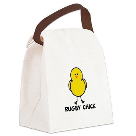 Rugby Chick Canvas Lunch Bag