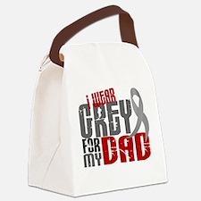 I Wear Grey For My Dad 6 Canvas Lunch Bag