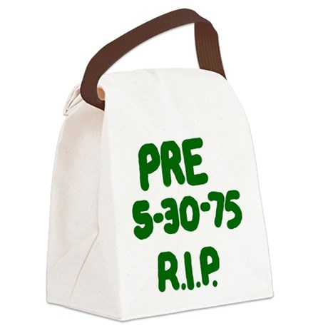 PRE 5-30-75 R.I.P. Canvas Lunch Bag