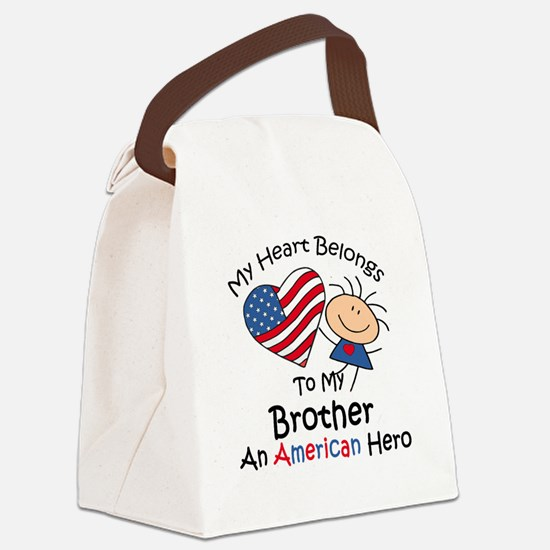 My Heart Belongs to My Brothe Canvas Lunch Bag