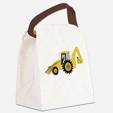 Backhoe Canvas Lunch Bag