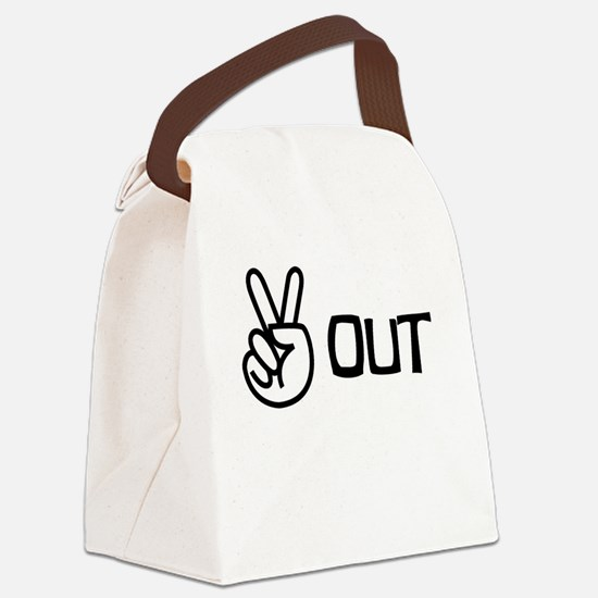 Peace Out Canvas Lunch Bag