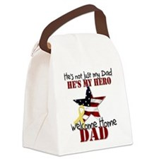 He's Not Just my Dad He's My Canvas Lunch Bag