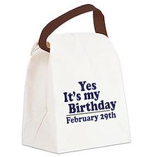 February 29th Birthday Canvas Lunch Bag