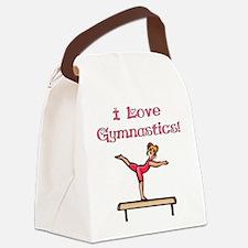 I Love Gymnastics Canvas Lunch Bag