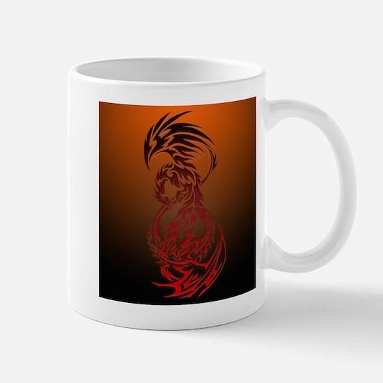 dragon vs phoenix Mug