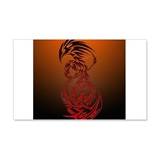 dragon vs phoenix Wall Sticker