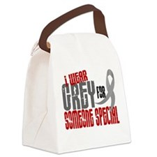I Wear Grey For Someone Special 6 Canvas Lunch Bag
