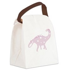 Pink Dinosaur Canvas Lunch Bag
