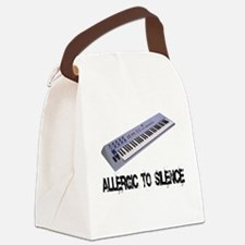 Allergic to Silence Keyboard Canvas Lunch Bag